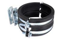 Walraven BISMAT1000 rørbøjle 110mm Elforzinket til lodrette støbejerns- eller plastrør