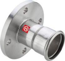 FZ press flange 89mm. PN10/16. Til varme- og kølesystemer. M-bakke