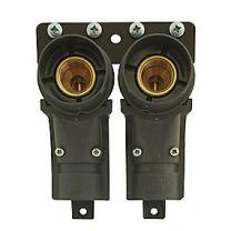 dobbelt radiatorkoblingsdåse til pex rør 1/2'' - 15 mm