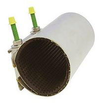 bandagemuffe 48-55 x 200 mm. 1-sidet bespænding. EPDM pakning. Syrefast stål AISI316