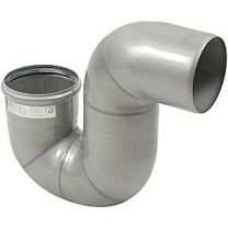 Blücher EuroPipe vandlås 87,5°. 110mm, med o-ring, syrefast stål