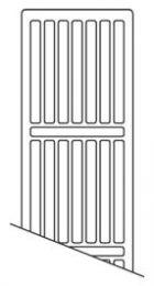 NY toprist 3000mm Til C4 og C6 radiator, type 22, hvid RAL 9016