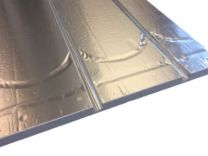 gulvvarmeplade 20 mm 1175x750x25 mm + vende og retur spor og alu. varmef. CC 250