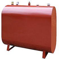 Oval olietank 1200 liter rød - C3