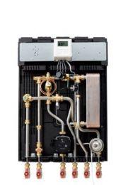 Wavin CALEFA S 40-H ECL fjernvarmeunit med elektronisk styring. Bymodel 2