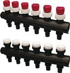 Uponor Pro Quick & Easy fordelerrør 1'' med 6 kredse 20 x 2,0 mm