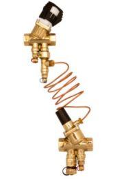 Frese PV SIGMA Compact Differenstrykregulator DN20 M/M med 2 aftapventiler. Trykområde 5-30 Kpa