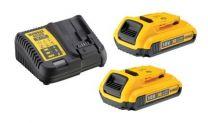 DEWALT 18 V XR batteri-sæt DCB115D2 - 2x2Ah batterier + 4.0 Ah lader