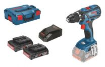 Bosch skruemaskine 18V GSR 18V-28, inkl. 2x3,0Ah batt., i L-Boxx