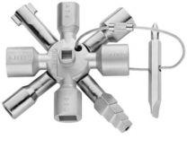 Knipex twinkey skabsnøgle Med 10 profiler,alle gængse lukkesystemer - 00 11 01
