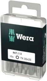 Wera bit TX30x25mm T/indv. Torx plus skruer, 1/4'' sekskant - 10 stk - 867/1