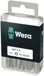 Wera bit TX40x25mm T/indv. Torx plus skruer, 1/4'' sekskant - 10 stk - 867/1