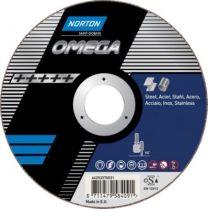 Norton-Omega skæreskive 230x2,5x22,23 mm til stål 6 rustfri stål A36W-BF41