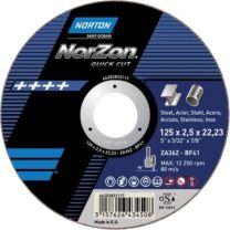Norton Skæreskive Quickcut 150x3,2x22. hurtig skæring i stål, rustfri stål og støbejern