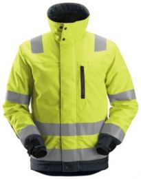 Snickers vinterjakke str. 2XL Fluoreserende gul/koksgrå med reflekser - 1130
