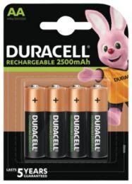 Duracell Ultra batteri AA 2500mAh, genopladeligt, pakke a 4 stk