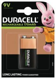 Duracell Ultra batteri 9V 170mAh, genopladeligt, pakke a 1 stk