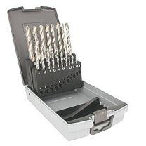 ALIAS Metalbor HSS-E Co kobolt sæt Ø1-10 mm i plastkassette 19 dele