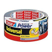 tesa Extra Power Universal lærredstape 25 m x 50 mm, grå