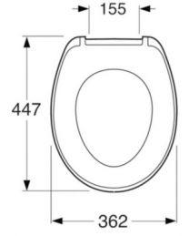 Gustavsberg Saval toiletsæde med SoftClose, 362x435x62mm hvid