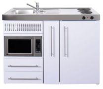 Juvel Minikøkken Premiumline Hvid Mål 1200x600x890. Vask til venstre