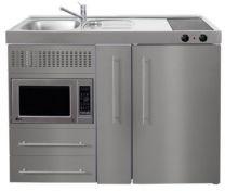 Juvel Minikøkken Premiumline stål Mål 1200x600x890. Vask til venstre
