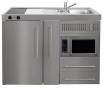 Juvel Minikøkken Premiumline stål Mål 1200x600x890. Vask til højre