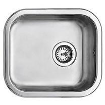 Uni køkkenvask 400x340mm med strainer, mat, til nedfældning