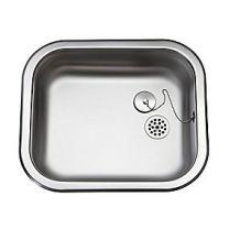 Uni køkkenvask 400x340mm med prop, mat, til nedfældning