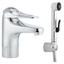 FMM Håndvaskarmatur 9000e med koldstart & selvlukkende håndbruser
