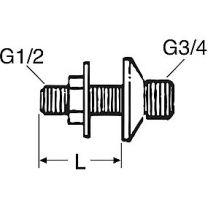 Forskruningssæt 65mm a 2 stk f. brusekabine