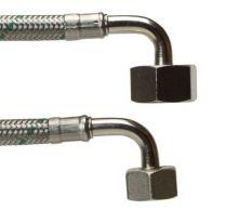 Neoperl Softpex tilslutningsslange 1250 mm. 1/2 V x 1/2 V. Rustfri flet. Koldt og varmt vand. NEOFLEXSPX DN8