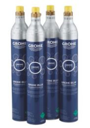 GROHE Startsæt CO2 Flasker 425 g CO2 Flasker (4 Stk) til 60 liter vand med brus